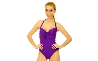 Dámske fialové jednodielne plavky Anizzia