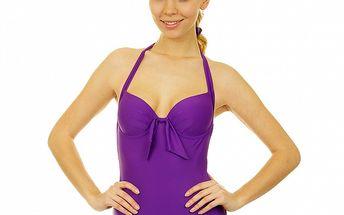 Dámské fialové jednodílné plavky Anizzia
