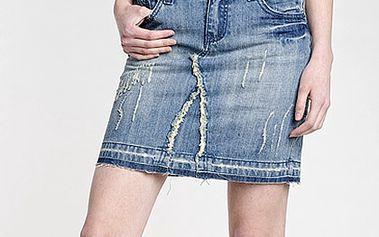 Džínová sukně přešívaná