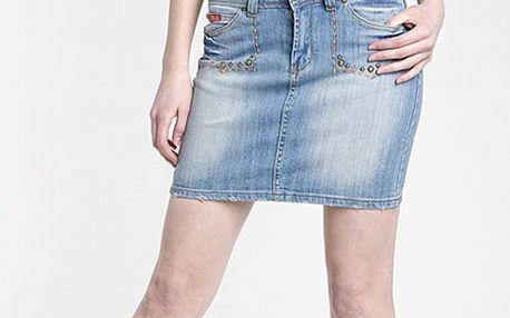 Džínová sukně s kamínky