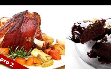 MEGA porce vynikajícího jídla pro 2 ve vyhlášené sicilské restauraci OSTERIA ALGIRO v Praze s 50% slevou: Kilové koleno, 2x pastevecké prkénko - mix kvalitních italských sýrů, 2x čokoládový dort. V ceně navíc voda + pečivo!