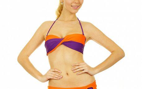Dámske oranžovo-fialové bikiny Anizzia