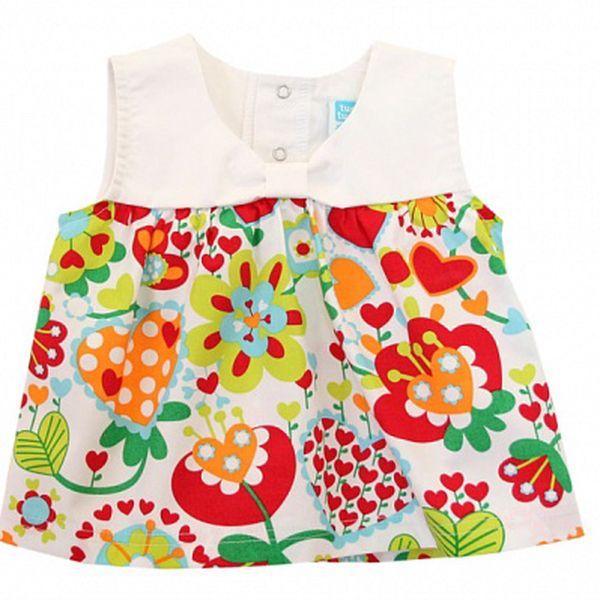Barevná kojenecká košilka Tu Tuc s kytičkami