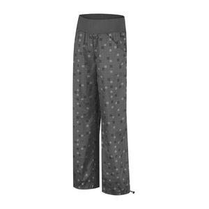 Dámské sportovní kalhoty Alpine Pro černo-šedé kostovaný vzor