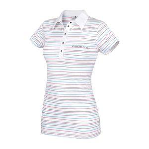 Dámské polo triko Alpine Pro bílé pruhované