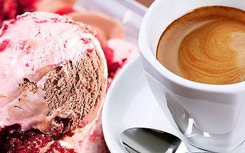 Káva a zmrzlina