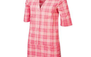 Dámská košile Alpine Pro červeno-bílá kostkovaná