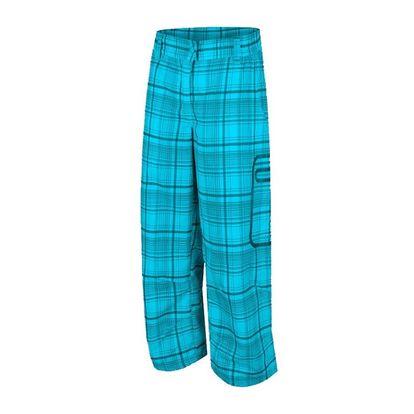Dámské sportovní 3/4 kalhoty Alpine Pro modré kostkované