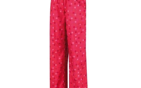 Dámské sportovní kalhoty Alpine Pro červené kostovaný vzor