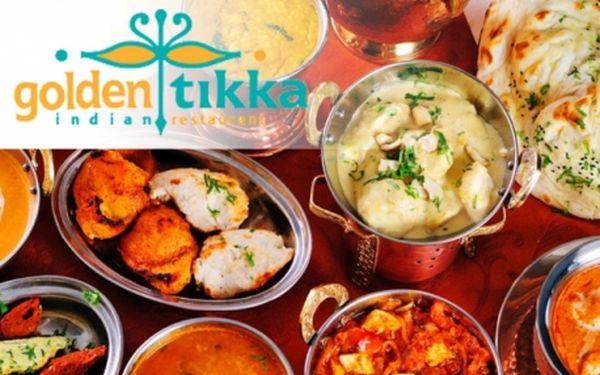 Senzace - indická restaurace GOLDEN TIKKA! Veškerá JÍDLA se slevou od rodilých indických kuchařů v samém centru Prahy, I.P. Pavlova! Poznejte tradiční chuť Indie!!!