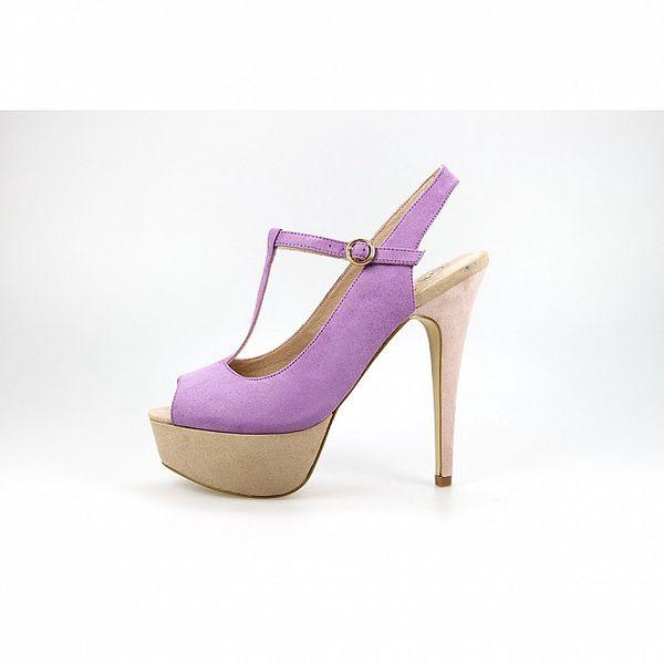 Dámské fialovo-béžové lodičky La Strada