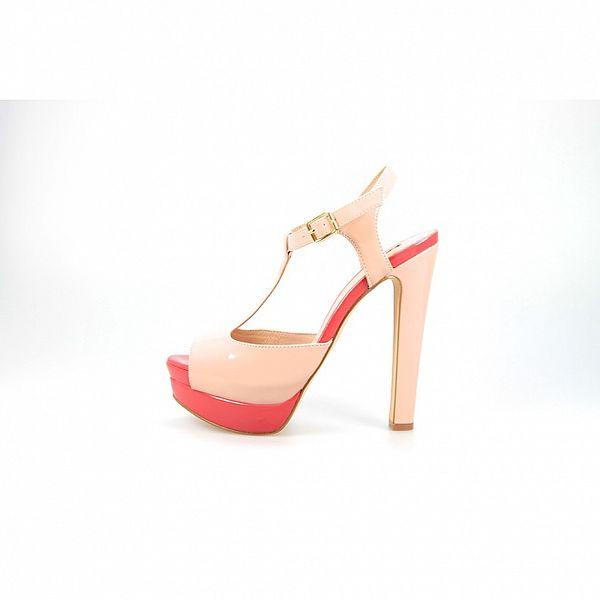 Dámské růžové lakované sandály La Strada
