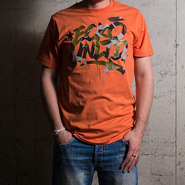 Bavlněné triko Ecko Camo High Tee