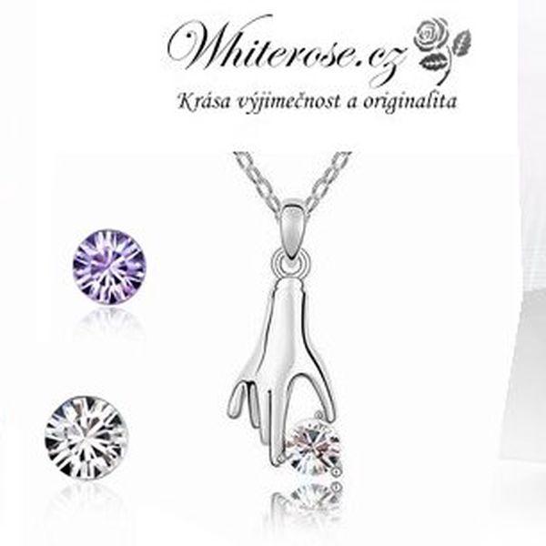 Porhodiovaný set ve stylu Ručička pro štěstí v pěti barevných provedeních! Set obsahuje náušnice a přívěsek s řetízkem s krystaly Swarovski Crystallized!
