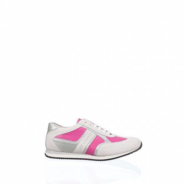 Dámske bielo-ružové tenisky Gianfranco Ferré