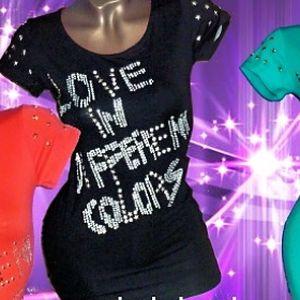 Vybíjané dámske tričko Love in za 7,50 € vrátane poštovného!