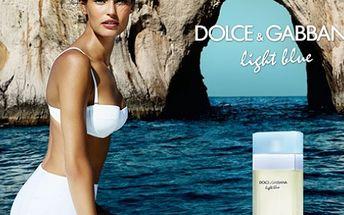 Dolce & Gabbana Light Blue toaletná voda pre ženy 100 ml s rozprašovačom za 30,50 € vrátane poštovného!