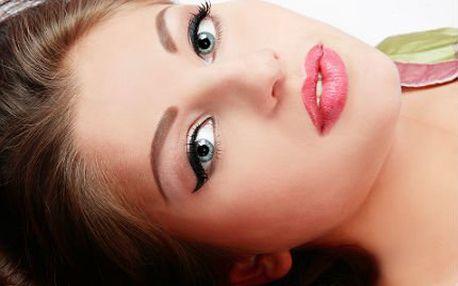 Permanentní make-up očí, obočí či rtů se slevou 80 %!