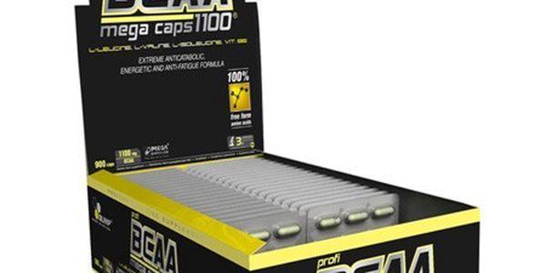 BCAA Mega Caps 1100, Olimp, blistr 30 kapslí - Podporují růst nových svalových vláken