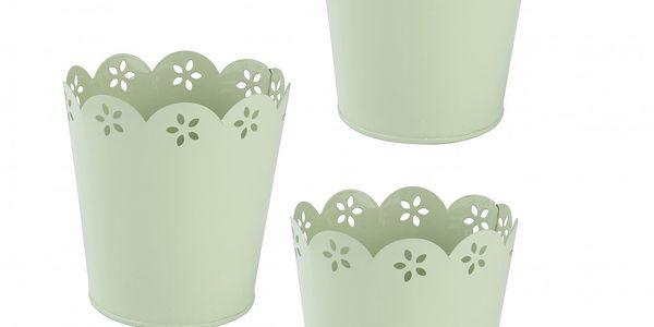Set 3 zinkových květináčů