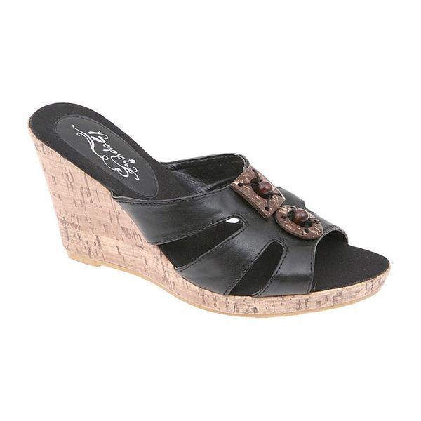 Dámské sandály na platformě Beppi černé