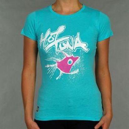 Dámské tričko Hot Tuna Piranha Logo. Vyrobeno ze 100 % bavlny