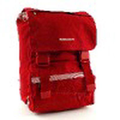Originální batoh na přezky z kolekce Benetton, barva červená. Sleva na celý sortiment