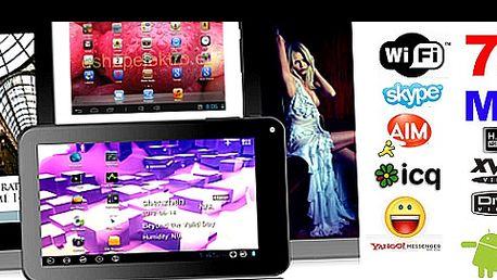 Nadupaný PC TABLET MID EASY 7 s Androidem 4.0.4 za jedinečných 2 550 Kč + DÁREK ZDARMA – odolné neoprénové pouzdro! Hudba, videa, ebook, WIFI, hry a nejpoužívanější aplikace MICROSOFT OFFICE editory a čtečky, kalkulačka, kalendář, emaily atd. Fantastický poměr cena/výkon!