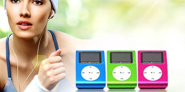 MP3 přehrávač s LCD displejem – 5 barev