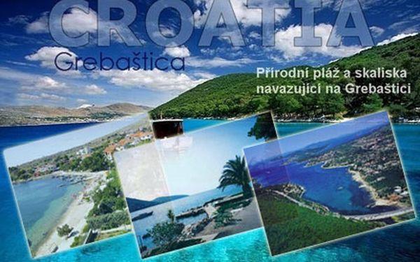 Dovolená v Chorvatsku – letovisko Grebaštica. Ubytování až pro 7 osob v apartmánu vzdáleném 100 metrů od moře na 7 nocí.