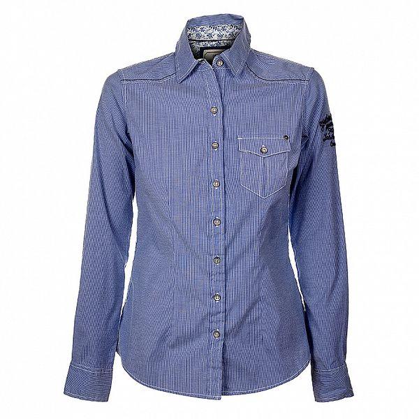 Dámská modrá proužkovaná košile Timeout