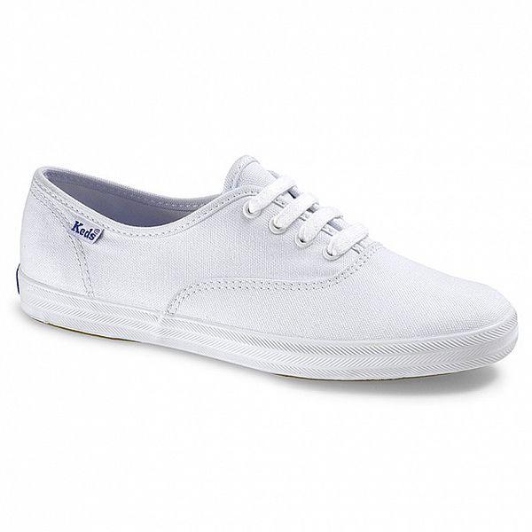 Dámské bílé plátěné tenisky Keds