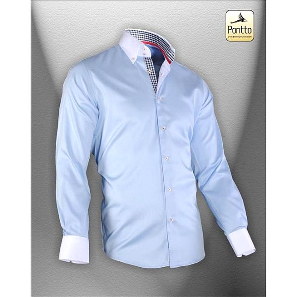 Modrá športová košeľa Pontto