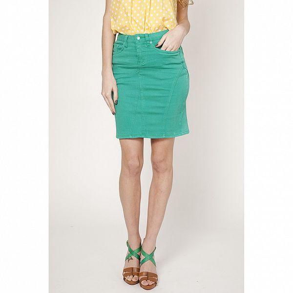 Dámská tyrkysově zelená úzká sukně Tantra