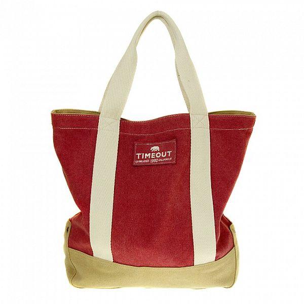 Dámská malinová bavlněná taška Timeout
