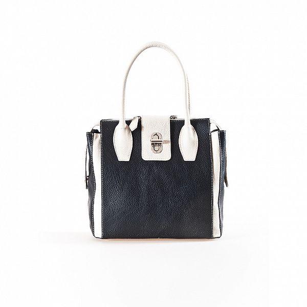 Dámská kčerno-béžová kabelka se zámečkem Luisa Vannini