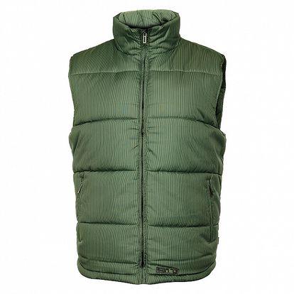 Pánska zelená prešívaná vesta Sam 73