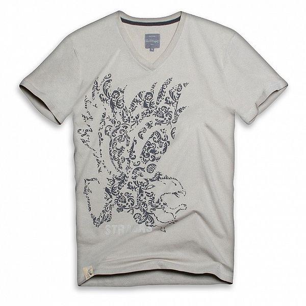 Pánské béžové triko s potiskem orla Paul Stragas