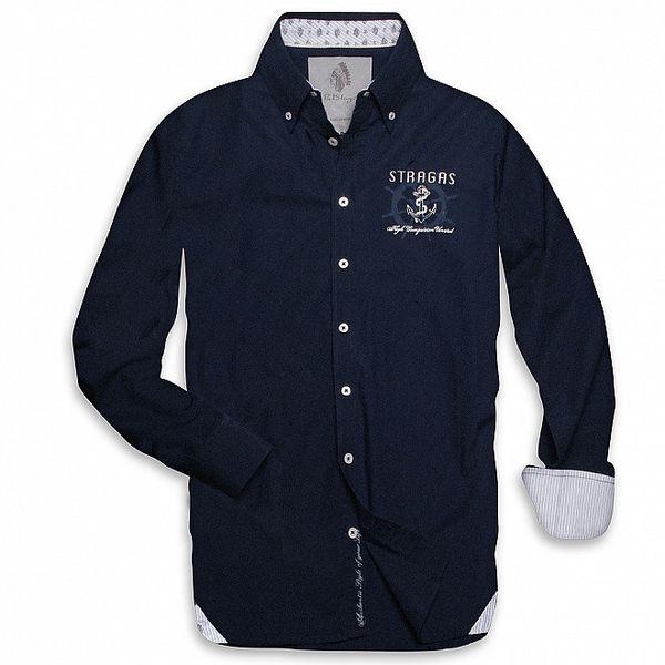 Pánska tmavo modrá námořnická košeľa Paul Stragas