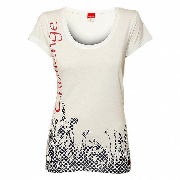 Dámske biele tričko s krátkym rukávom Sam 73