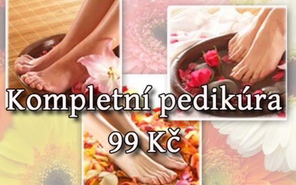 Kompletní MOKRÁ PEDIKÚRA (60 min.) včetně masáže nohou a lakování nehtů ve studiu Veronika v Žabovřeskách! Mějte krásné a zdravé nohy!!!