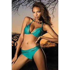 Dámské plavky Whitney L v trendy tyrkysové barvě.