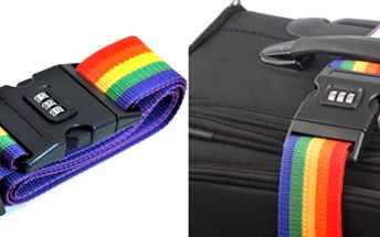 Rádi cestujete? Zabezpečte svůj kufr stylovým zamykacím popruhem! Navíc si hned poznáte svoje zavazadlo