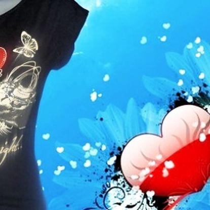 Dámske tričko Love za 7,50 € vrátane poštovného!