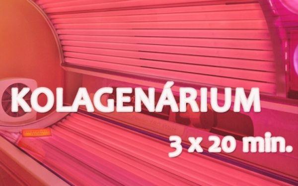 3x20 min KOLAGENÁRIUM za NEJLEPŠÍ CENU u metra Budějovická! Urychluje regeneraci kožních buněk o 150 - 200%! Vypnutější a zdravější pokožka na celém těle!
