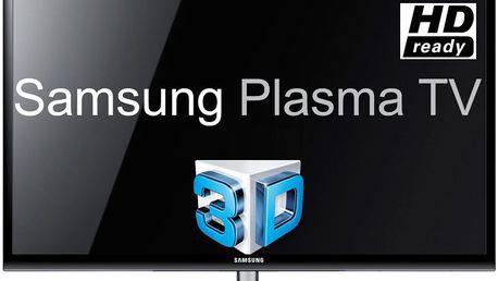 3D plazmový televizor Samsung PS43E490 súhlopříčkou 109cm a funkcí konverze z2D obrazu do 3D