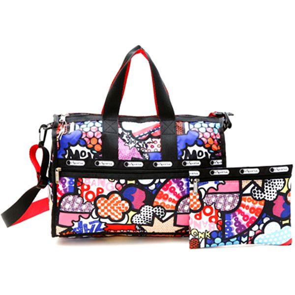 Dámska pestro vzorovaná cestovná taška LeSportsac