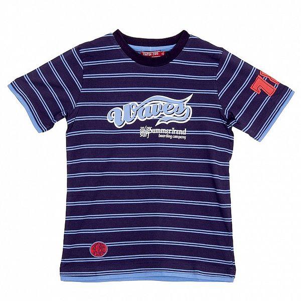 Klučičí modro-fialové pruhované triko Yatsi