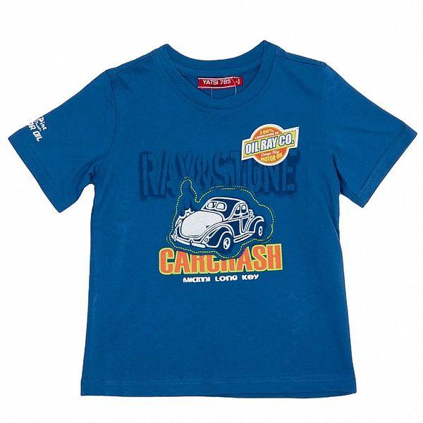 Chlapčenské modré tričko s autom Yatsi