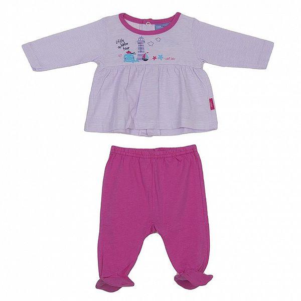 Detský fialovo-ružový set nohavíc a trička Yatsi